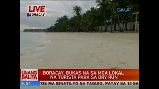 UB: Boracay, bukas na sa mga lokal na turista para sa dry run