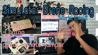#jumperT12 #freerider Cara bermain Simulator drone race di HP, laptop,&PC
