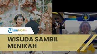 Viral Seorang Wanita Wisuda sambil Gelar Pernikahan di saat Bersamaan