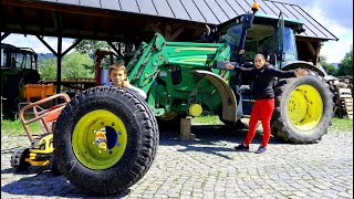 The wheel fall off on Tractor FLAT TIRE! Mommy Playing with Tractors need Help