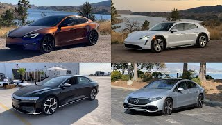 I've Driven Lucid Air, Model S Plaid, EQS, & Taycan All Within 1 Week! Here Are My Thoughts