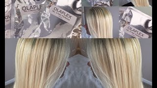 Olaplex Before & After | How to get beautiful blonde hair | I do my friends hair