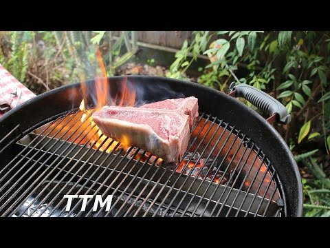 Grilled Porterhouse Steak~Slow 'N Sear Weber Kettle BBQ Accessory Review