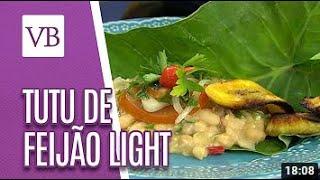 Tutu de feijão light com taioba refogada – Anne Nebenzahl (NutriChef)