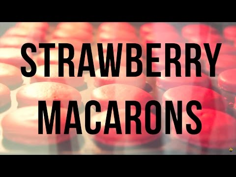 Baking with Sandro's Cakery: Strawberry Macarons