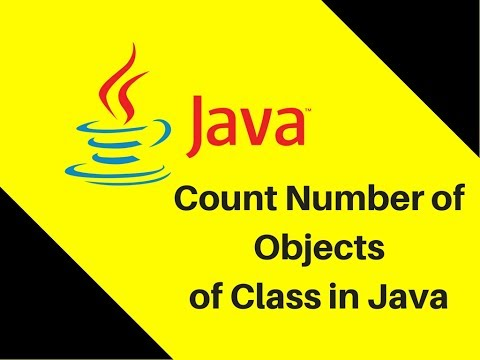 7.15 Count Number of Objects of Class in Java