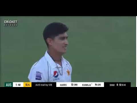 Pakistani Fast bowler Nasim Shah deadly bowling in Australia