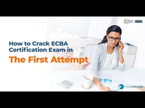 How to crack ECBA Certification exam   ECBA Preparation Strategy ...