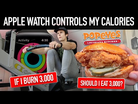 Letting My Apple Watch Control My Calories for 48 HOURS | OMAD + Popeyes Chicken Sandwich