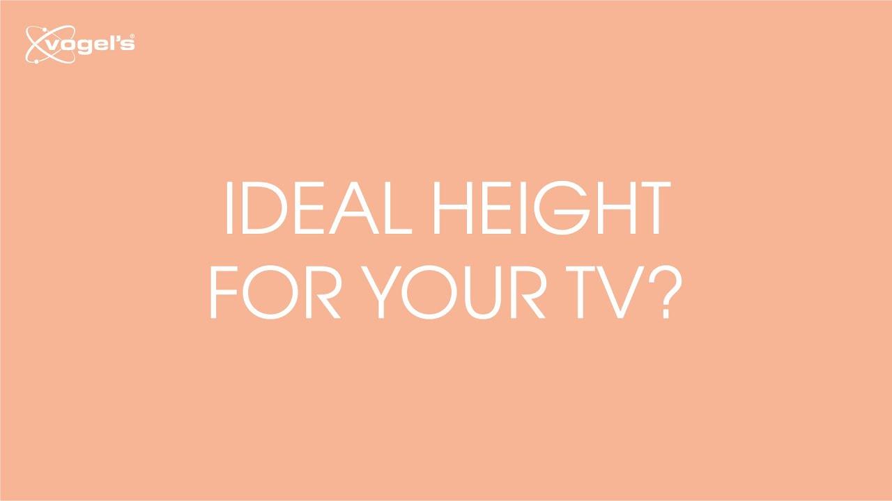 ideale hoogteafstand voor het ophangen van je tv vogels