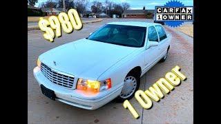 1 Owner Donated Copart Cadillac DeVille $980