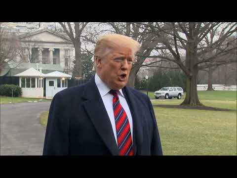 President Donald Trump left Washington DC to pay tribute on Saturday to the four Americans killed in a suicide bomb attack in Syria this week as he set off to Dover Air Force Base for the return of their remains. (Jan. 19)