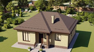 Проект дома 099-А, Площадь дома: 99 м2, Размер дома:  12,9x9,7 м