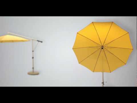 Ampelschirm Mezzo, der leicht bedienbare Freiarmschirm, made in Germany