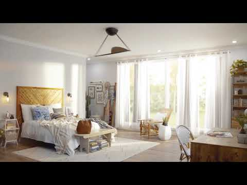 Video for Kyte Satin Natural Bronze Ceiling Fan