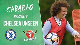 David Luiz Tries His Hand At Being A Goalkeeper & Didier Drogba Is Back At Cobham!   Chelsea Unseen