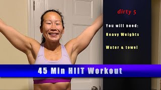 The 5's !! Get your weights for this intense calorie burn!!