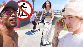 Teaching Charly Jordan How To Scooter!