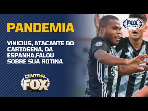 FALA, TANQUE!; Vinicius, atacante do Cartagena-ESP, conta sua rotina com a pandemia do coronavirus