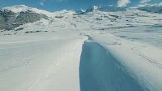 Invierno en las montañas #fpv#drone#Sky#mountains#travell