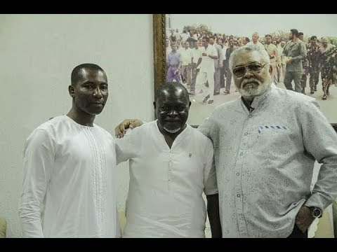 Former President JJ Rawlings sings Happy Birthday to Azumah Nelson