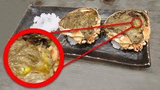 Born eating crab brains?