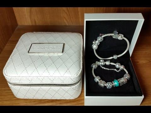Mi Pulsera Pandora original con charms,clips y cadena de seguridad. Joyero de regalo