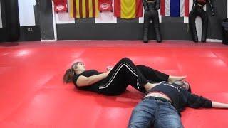Female armbar tutorial English lesson fusion
