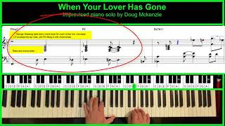 When Your Lover Has Gone - jazz piano tutorial