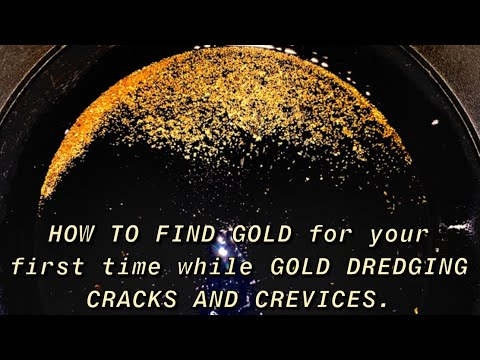 Gold dredging very high quality gold out a HUGE GOLD POCKET!