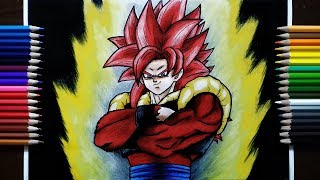 Drawing Super Saiyan 4 Gogeta