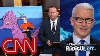 Anderson Cooper mocks lawmaker's use of props on Senate floor