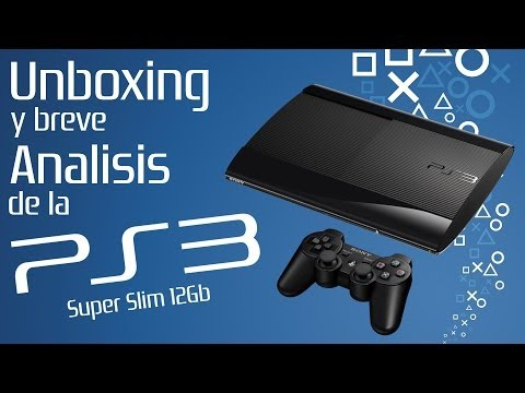 Unboxing y breve analisis de la PS3 Super Slim 12Gb en Español