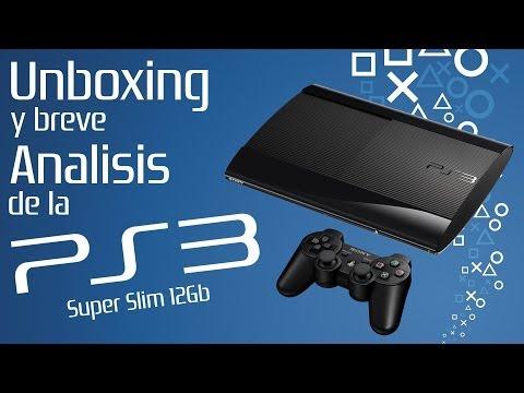 Unboxing y breve analisis de la PS3 Super Slim 12Gb en Español