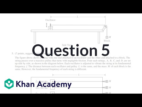 Question 5: 2015 AP Physics 1 free response (video) | Khan Academy
