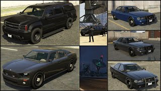 GTA 5: How to get the Unmarked Police Cruiser & FIB SUV [PS4]