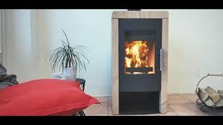 Аккумуляционная печь камин Haas + Sohn Pinerolo (Песчаник) ( кафельная печь , каминофен) от компании House heat - видео 3