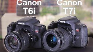 Canon T6i vs Canon T7i Hands On Comparison