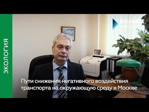 Пути снижения негативного воздействия транспорта на окружающую среду в Москве