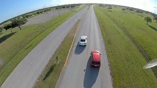 Chasing a Nissan GTR with a Drone FPV DJI