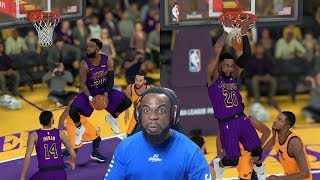 Showing Donovan Mitchell Who The BEST Dunker Is! Lakers vs Jazz NBA 2K19 Ep 53