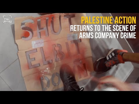 Elbit arms company HQ stormed in a second bold direct action