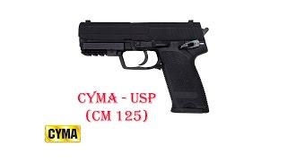 [ОБЗОР] CYMA - USP CM125 AEP airsoft (страйкбол)