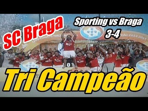 VIDEO: SC Braga Tri Campeão Futebol Praia 2015 - A Entrega da Taça - Sporting vs Braga 3-4 (16/08/2015)