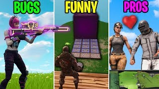 FORTNITE 💗 PUBG - BUGS vs FUNNY vs PROS - Fortnite Funny Moments 275