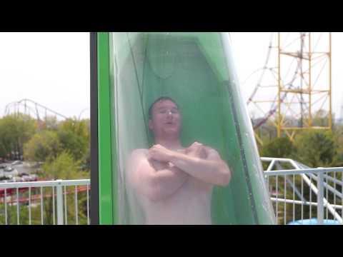 Point Plummet - Cedar Shores newest water slide (видео)