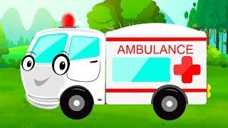 Ambulance   Car Garage   Garage Game   Video for Children & babies