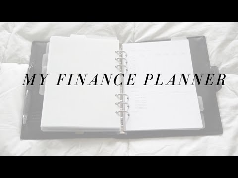 A Look Into My Finance Section | A5 Filofax Calipso
