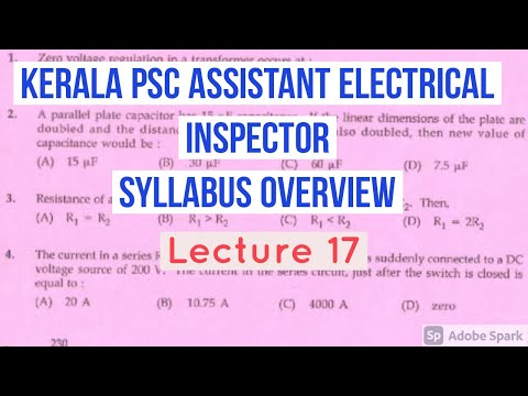 Kerala PSC Assistant Electrical Inspector | Syllabus Overview ...