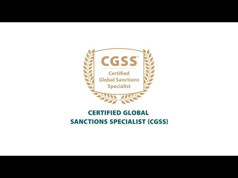 ACAMS New certification in Global Sanctions: CGSS - YouTube